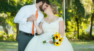 loving couple kiss on the swing at sunnyside plantation