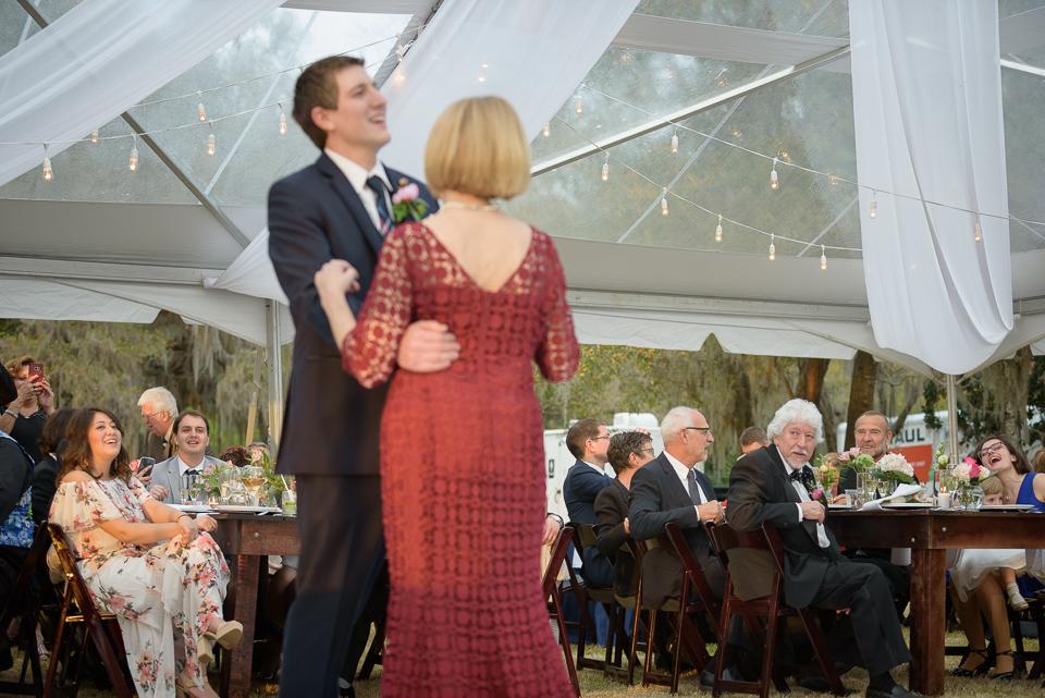 mother son dance during Litchfield Wedding reception