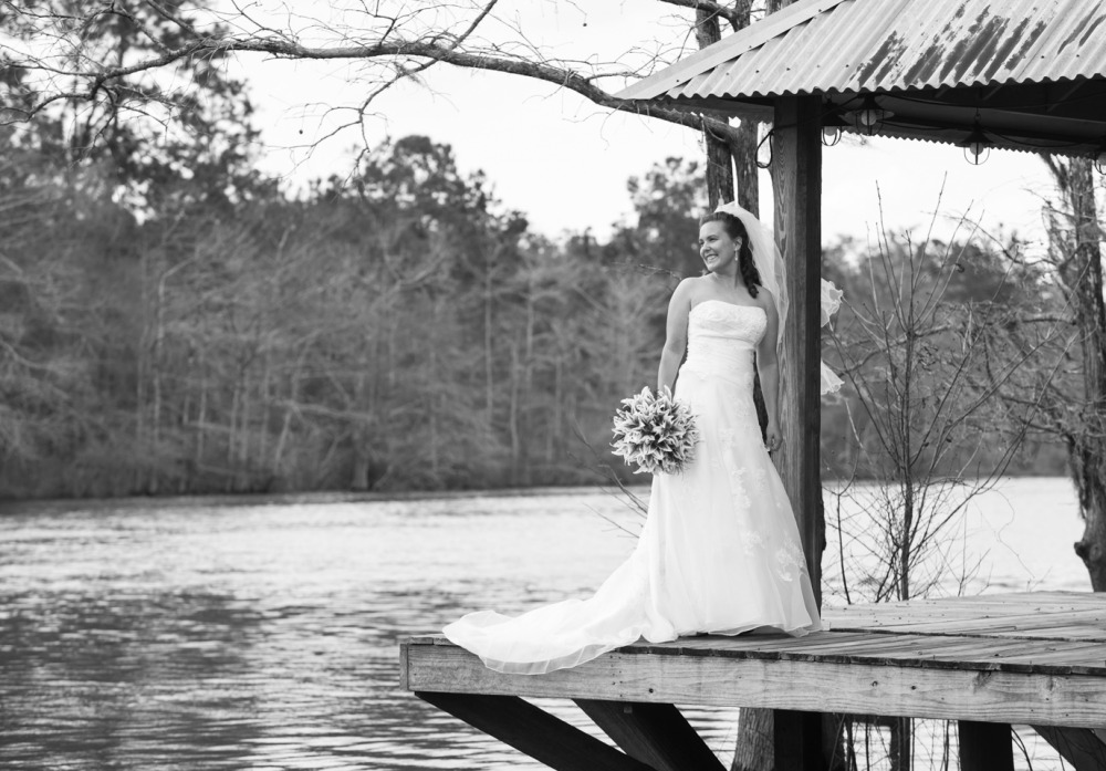 outdoor bridal portrait by river